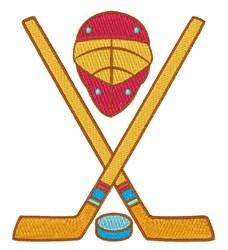 Hockey Equipment embroidery design