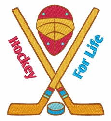 Hockey for Life embroidery design