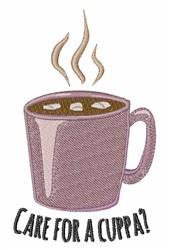Cuppa Cocoa embroidery design
