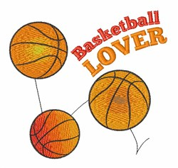 Basketball Lover embroidery design