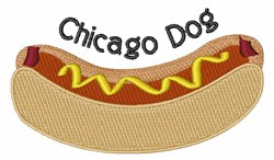Chicago Dog embroidery design