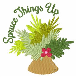 Spruce Things Up embroidery design