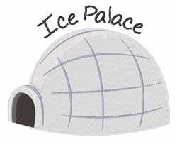 Ice Palace embroidery design
