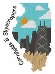 Cornfields & Skyscrapers embroidery design