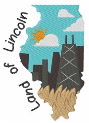 Land of Lincoln embroidery design