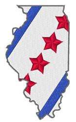 Illinois Map embroidery design