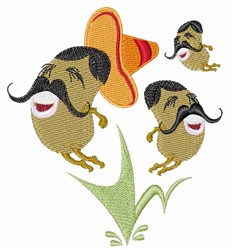 Mexican Jumping Beans embroidery design