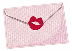 Kiss Envelope embroidery design