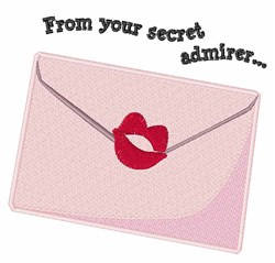 From Your Secret Admirer embroidery design