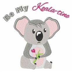 Koala-tine embroidery design