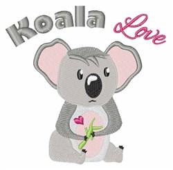 Koala Love embroidery design