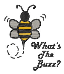 The Buzz embroidery design