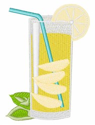 Lemonade Glass embroidery design