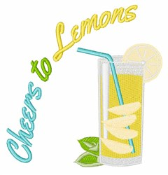 Cheers to Lemons embroidery design