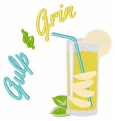 Gulp & Grin embroidery design