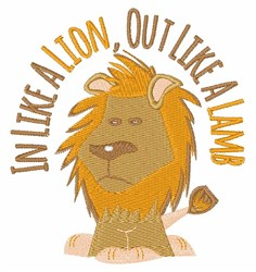 Lion Lamb embroidery design