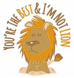 Not Lion embroidery design