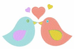 Kiss Birds embroidery design