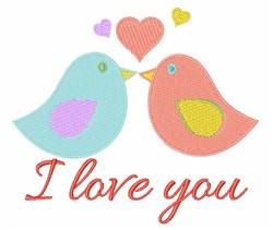 Love You Birds embroidery design