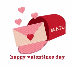 Valentines Mail Box embroidery design