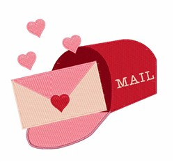 Heart Mail embroidery design