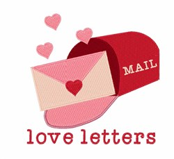 Love Letters embroidery design