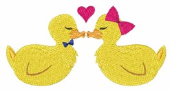 Kiss Ducks embroidery design