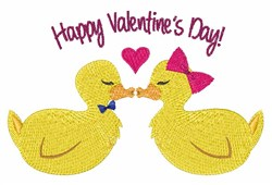Valentines Ducks embroidery design