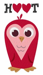 Hoot Hearts embroidery design