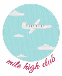 Mile High Club embroidery design
