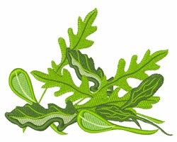 Arugula Greens embroidery design