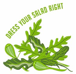 Dress Your Salad embroidery design