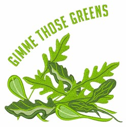 Gimme Greens embroidery design