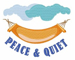 Peace & Quiet embroidery design