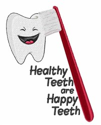 Healthy Teeth embroidery design