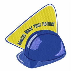 Wear Your Helmet embroidery design