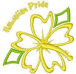 Hawaiian Pride embroidery design