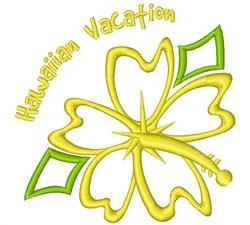 Hawaiian Vacation embroidery design