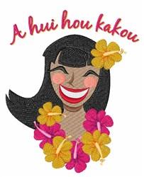 A Hui Hou Kakou embroidery design