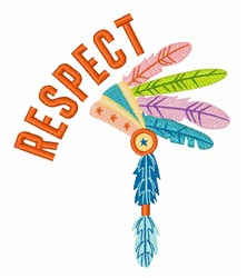 Respect embroidery design