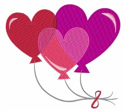 Valentine Balloons embroidery design