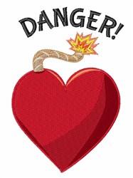 Danger embroidery design