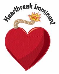 Heartbreak Imminent embroidery design