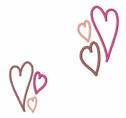 Valentine Hearts embroidery design