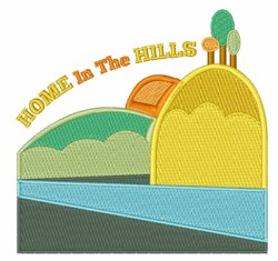 Home In Hills embroidery design