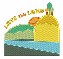 Love This Land embroidery design