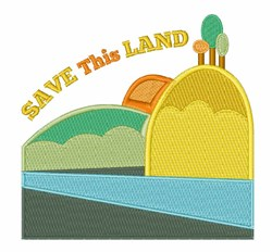 Save This Land embroidery design