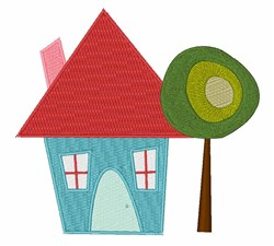 Little House embroidery design