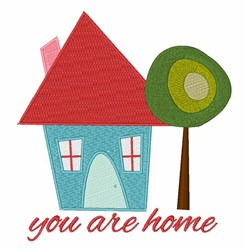 You Are Home embroidery design
