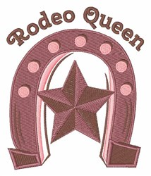 Rodeo Queen embroidery design
